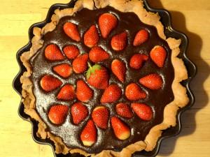 Tarta z kremem orzechowo-czekoladowym